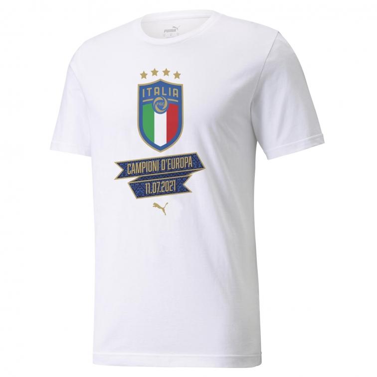 ITALIA FIGC T-SHIRT CELEBRATIVA EUROPEO 2021 consegna dal 29 Luglio