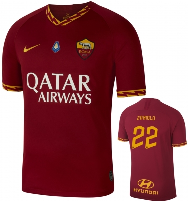 AS ROMA ZANIOLO MVP HOME SHIRT 2019-20