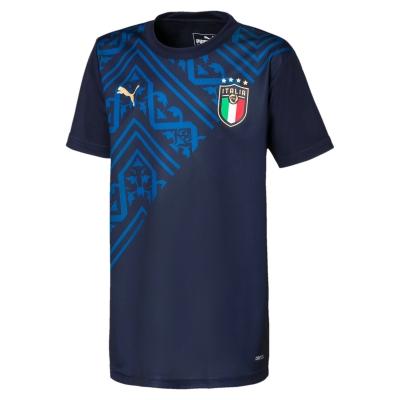 ITALIA FIGC MAGLIA PREPARTITA BAMBINO BLU 2020-21