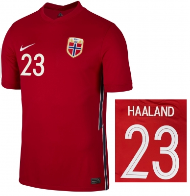 NORVEGIA MAGLIA HAALAND HOME 2020-21
