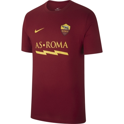 AS ROMA T-SHIRT FULMINE ROSSA 2019-20