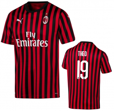 AC MILAN MAGLIA UFFICIALE 19-THEO HOME 2019-20