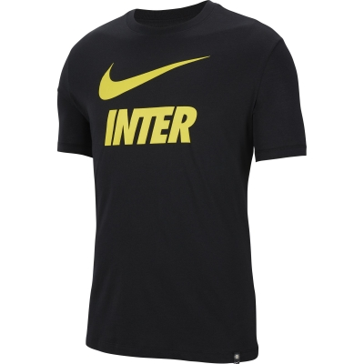 INTER SWOOSH BLACK T-SHIRT 2020-21