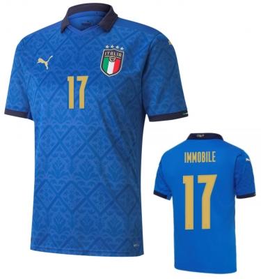ITALIA FIGC MAGLIA IMMOBILE HOME 2020-21