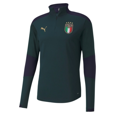 ITALIA FIGC FELPA ALLENAMENTO 1/4 ZIP 2019-20