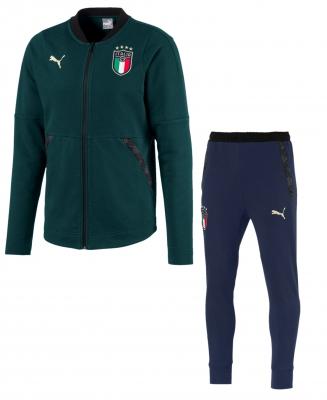 ITALIA FIGC TUTA PRESENTAZIONE FELPATA VERDE 2019-20
