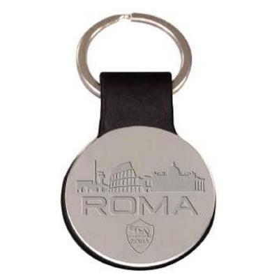 AS ROMA PORTACHIAVI SIMILPELLE e METALLO