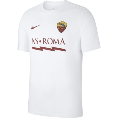 AS ROMA T-SHIRT FULMINE BIANCA 2019-20